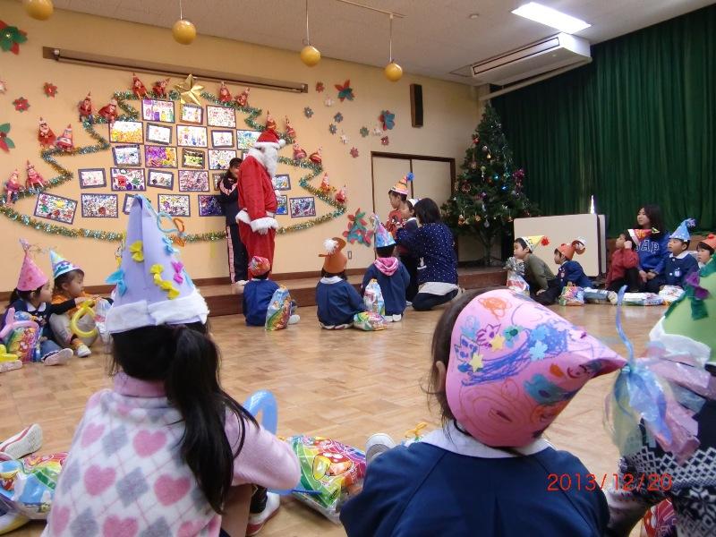 クリスマス訪問 日吉幼児園 サンタさんに質問