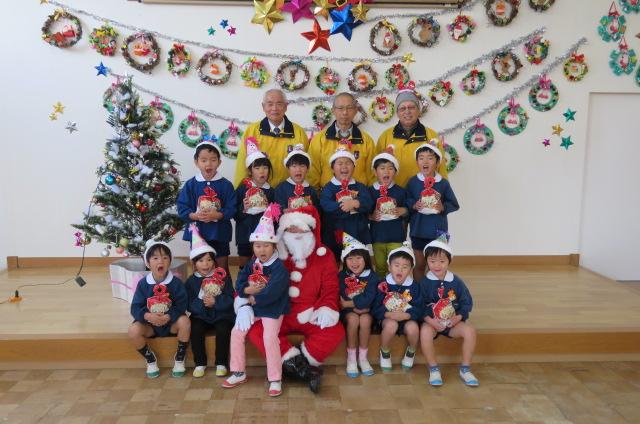 幼児園クリスマス訪問